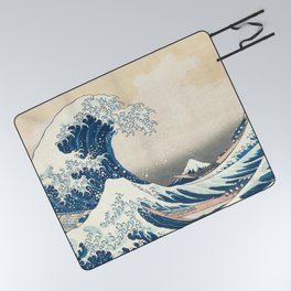 The Great Wave off Kanagawa by Katsushika Hokusai from the series Thirty-six Views of Mount Fuji Picnic Blanket