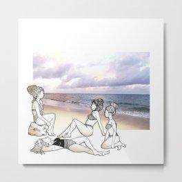 Girlfriends at the Beach Metal Print