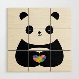 Panda Love Wood Wall Art