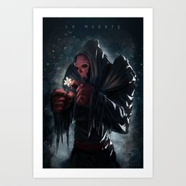 The Death - La Muerte Art Print