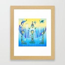 High Vibration Go On Framed Art Print