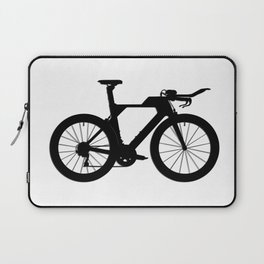 Bike T.T. Black Laptop Sleeve