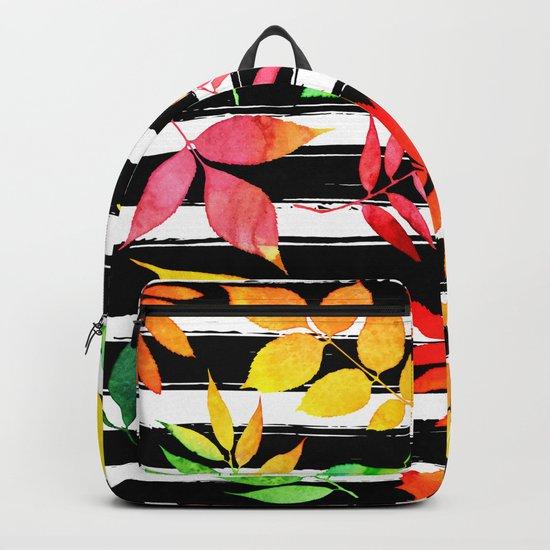 Watercolor Leaves Backpack