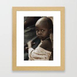 Dry tears Framed Art Print