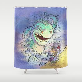 Sea Serpent Shower Curtain