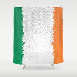 Extruded flag of Ireland Shower Curtain