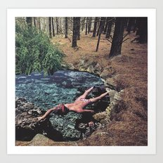 Swimming in the Forest Art Print