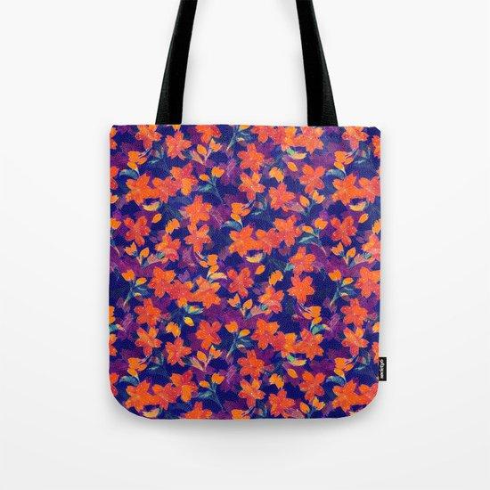 Japanese Garden: Blossoms Dk Tote Bag