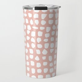 Dots / Pink Travel Mug