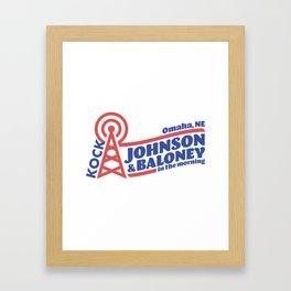 Johnson & Baloney Framed Art Print