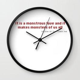 It is a Monstrous Love Wall Clock