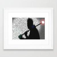 ninja Framed Art Prints featuring Ninja by Samual Lewis Davis BMmSt CQU