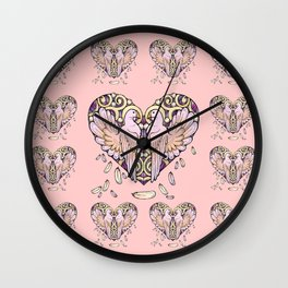 Lover Pigeons Wall Clock