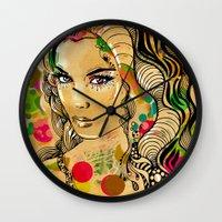 dots Wall Clocks featuring Dots by Irmak Akcadogan