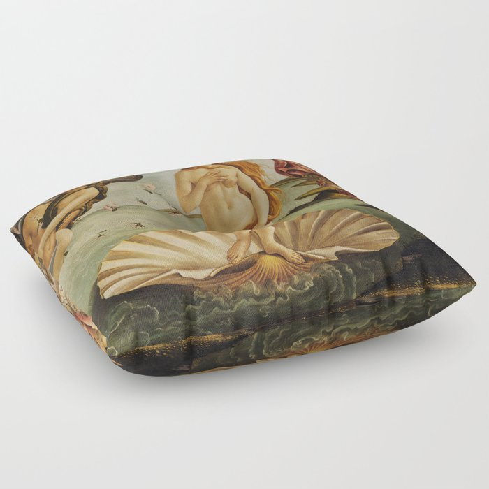 833426011855c The Birth of Venus by Sandro Botticelli Floor Pillow by ...
