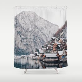 VILLAGE - COAST - MOUNTAINS - SNOW - PHOTOGRAPHY Shower Curtain