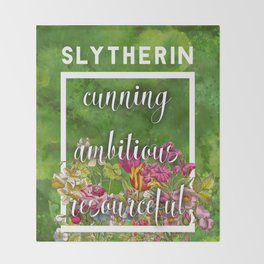 Slytherin Throw Blanket