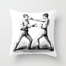 Men with Mustaches Throw Pillow