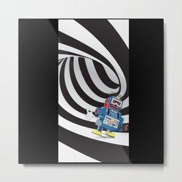 Robot Tunnel Metal Print