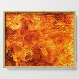 Flames Serving Tray