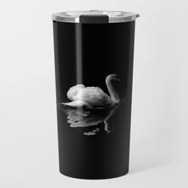 WHITE - SWAN - ON - BODY - OF - WATER Travel Mug