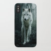 arya stark iPhone & iPod Cases featuring Wolf by Julie Hoddinott