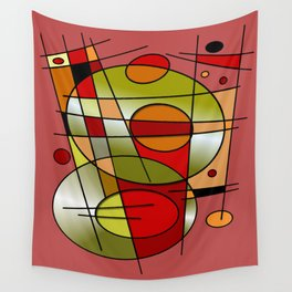 Abstract #48 Wall Tapestry