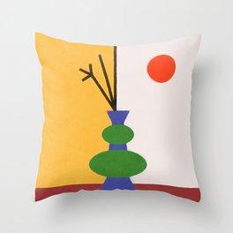 Split Vase on Table Throw Pillow