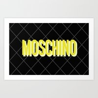 moschino Art Prints featuring MOSCHINO Quilted Bag by RickyRicardo787