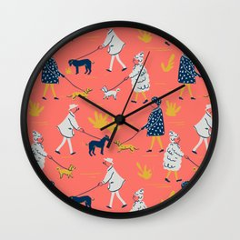 Ladies and Dogs Wall Clock