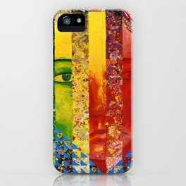 Conundrum I - Abstract Rainbow Goddess iPhone Case