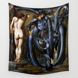 "Edward Burne-Jones ""The Doom Fulfilled (Perseus Slaying the Sea Serpent)"" Wall Tapestry"
