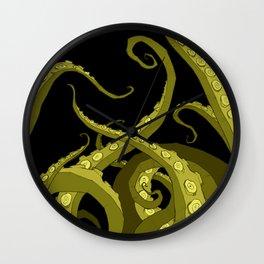 Subterranean - Green Tentacle Wall Clock