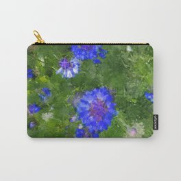 Summer Green Meadow and Blue Flowers Carry-All Pouch