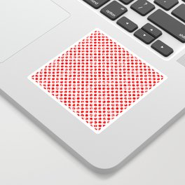 Polka Dot Red and Pink Blotchy Pattern Sticker