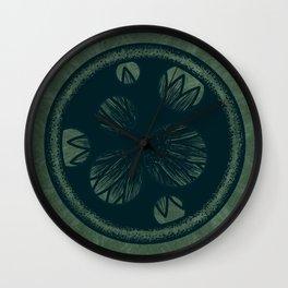 Hidden Flower Wall Clock