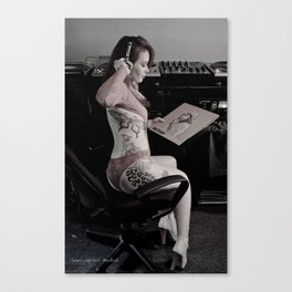 Take A Listen Canvas Print