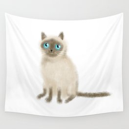 Chocolate Point Siamese Wall Tapestry