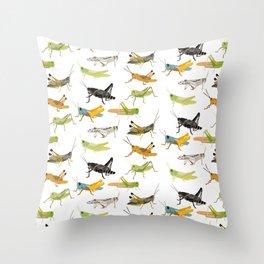 Grasshoppers Throw Pillow