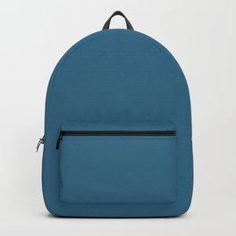 Dark Sky Blue Solid Color Backpack