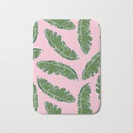 Nouveau Banana Leaf in Crabby Pink Bath Mat