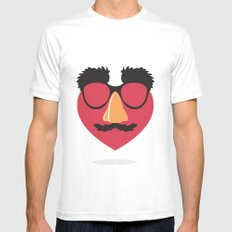 Love in Disguise MEDIUM Mens Fitted Tee White