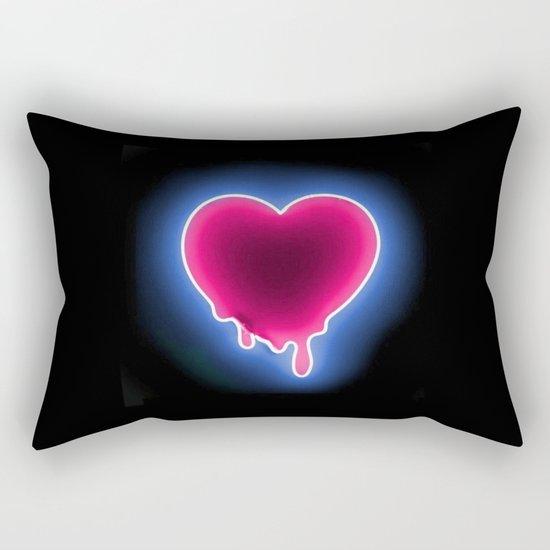 Heart // Neon Rectangular Pillow