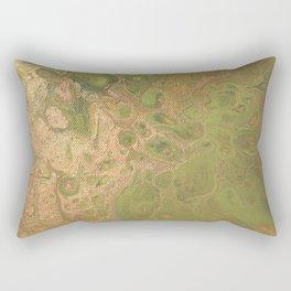 fluid golden green Rectangular Pillow