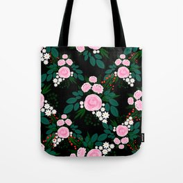 Elegant Pink and white Floral watercolor Paint Tote Bag