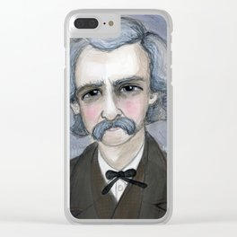 The Adventures of Mark Twain, A Victorian Writers Portrait Clear iPhone Case