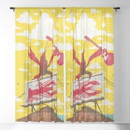 CRAWFISH BOIL II Sheer Curtain