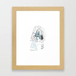 The Exploded Alphabet / A Framed Art Print