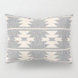 Southwestern Pattern 131 Grey and Beige Pillow Sham
