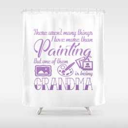 Painting Grandma Shower Curtain